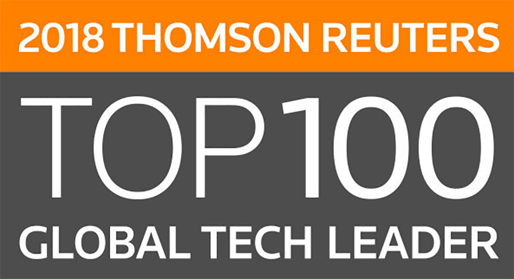 Sharp Named 2018 Thomson Reuters Top 100 Global Technology Leader