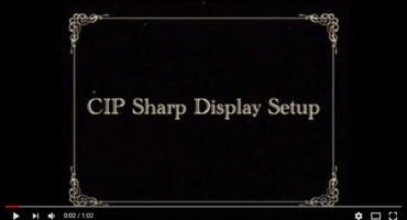 CIP Sharp Copier Display Setup