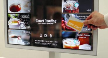 sharp liquid crystal display IC card reader