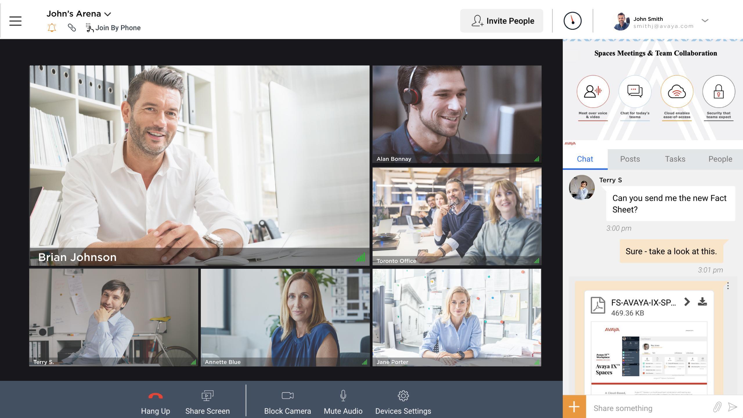 avaya spaces - video conferencing