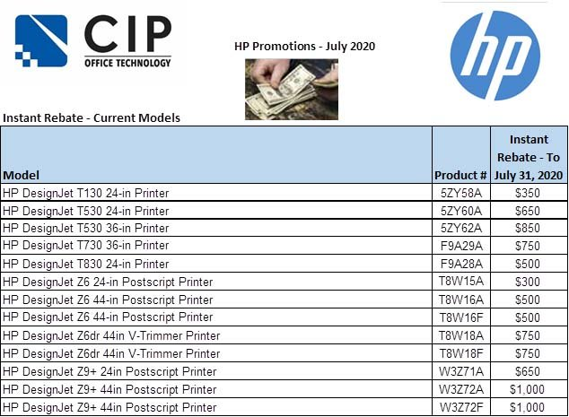 hp promotional discounts july 2020